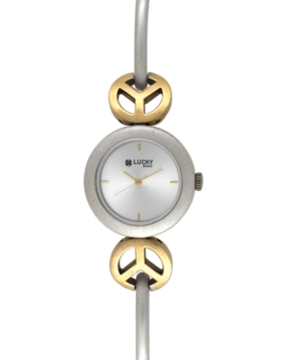 Lucky Brand Watch, Women's Two-Tone Mixed Metal Bracelet 16-1081SVTT