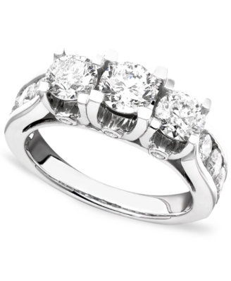 14k White Gold Diamond Ring (3 ct. t.w.)