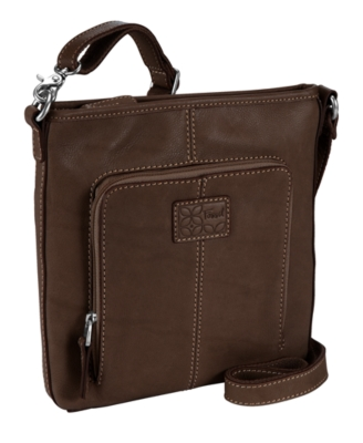 Fossil Handbag, Crosstown Flat Crossbody Bag - Leather Messenger Bag