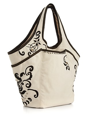 "Lucky Brand Jeans ""Lucky Off Shore"" Embroidered Tote - UNDER $100 - Handbags & Accessories - Macy's from macys.com"