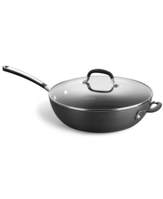 "Simply Calphalon Nonstick 12"" Covered Jumbo Fry Pan"