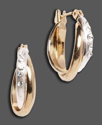 Monet Two-Tone Hoop Earrings