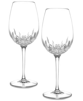 Waterford Stemware, Lismore Essence Goblets, Set of 2