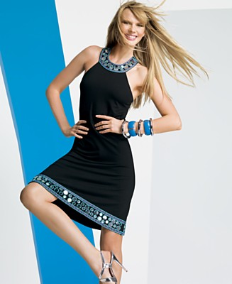 INC International Concepts® Mirrored-Trim Sleeveless T-Back Dress - Dresses - Women's  - Macy's from macys.com