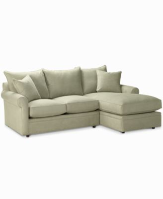 Doss Fabric Microfiber Sectional Sofa 2 Piece (Loveseat u0026 Chaise) 101 W  sc 1 st  Macyu0027s : loveseat with chaise - Sectionals, Sofas & Couches