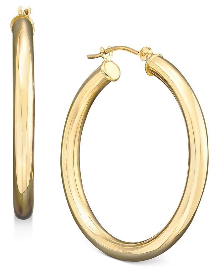 Macy's - Medium Hoop Earrings in Polished 14k Gold