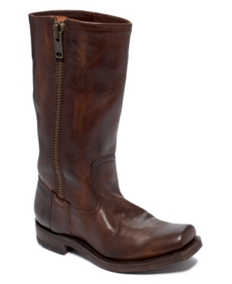 Frye Heath Outside Zip Boots Women's Shoes