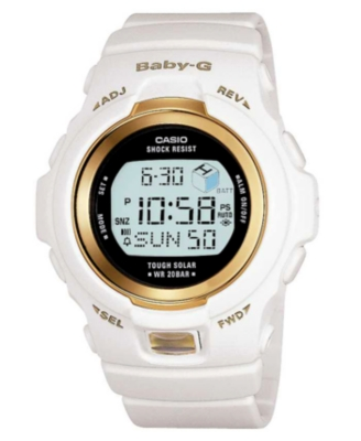 Baby-G Watch, White Resin Strap BGR300-7