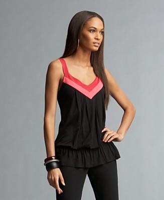 INC International Concepts® Colorblocked Drop-Waist Tank Top - Tops - Women's  - Macy's
