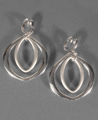 Etienne Aigner Silvertone Earrings
