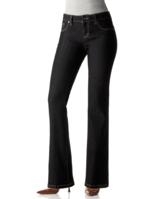 DKNY Jeans Stretch Soho Boot Cut Jeans, Black Rinse Wash