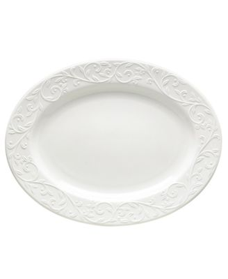 Lenox Dinnerware, Opal Innocence Carved Large Oval Platter