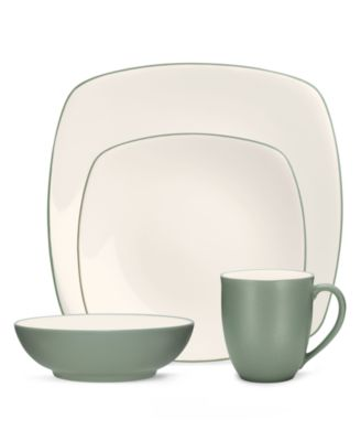 Noritake Dinnerware, Colorwave Green Square 4 Piece Place Setting