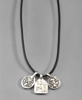 Lucky Brand Necklace, Silvertone Charm