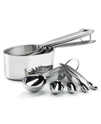 Cuisipro Measuring Cups & Spoons, Stainless Steel 9 Piece Set