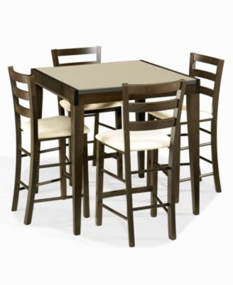 Caf 233 Latte Counter Height Glass Top Pub Table Furniture