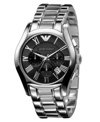 Emporio Armani Watch, Men's Chronograph Stainless Steel Bracelet