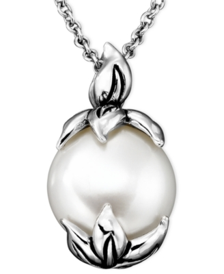 Sterling Silver Pendant, Cultured Freshwater Pearl (11.5-12 mm)