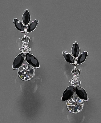 Monet Earrings, Crystal Accent Drop