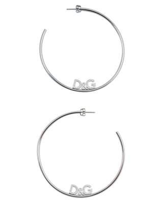 D&G Earrings, Sterling Silver Lover Hoop