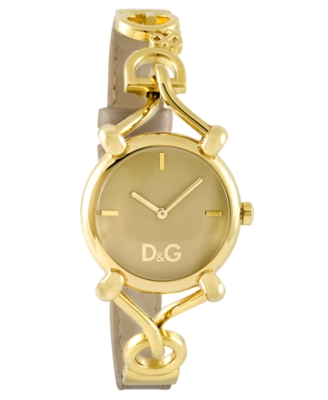 D&G Watch, Women's Goldtone Stainless Steel Bracelet DW0498