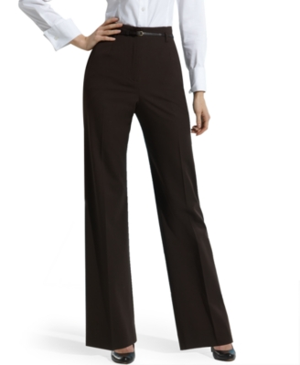 Jones New York Petite Pants, High Waist Stretch with Belt