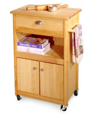 Catskill Kitchen Cart, Open Storage