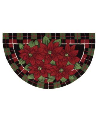 Nourison Rugs  Holiday Poinsettia 24 quot  x 40 quot  Slice. Lenox Holiday Nouveau Plaid 20 quot  x 20 quot  Bath Rug   Bath Rugs  amp  Bath