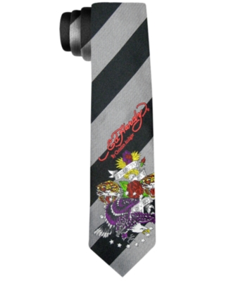 Ed Hardy Tie, True to My Love Stripe