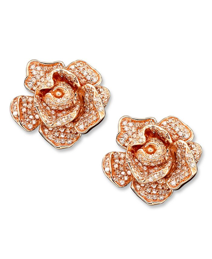 EFFY Collection - Diamond Flower (1-1/3 ct. t.w.) in 14k Rose Gold
