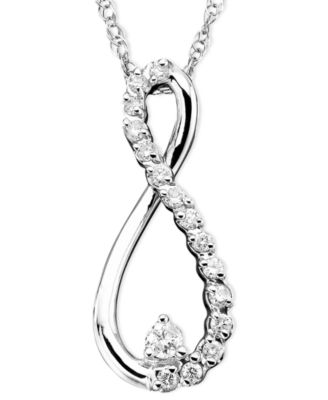 infinity necklace white gold. diamond infinity necklace in 10k white gold (1/10 ct. t.w.) t