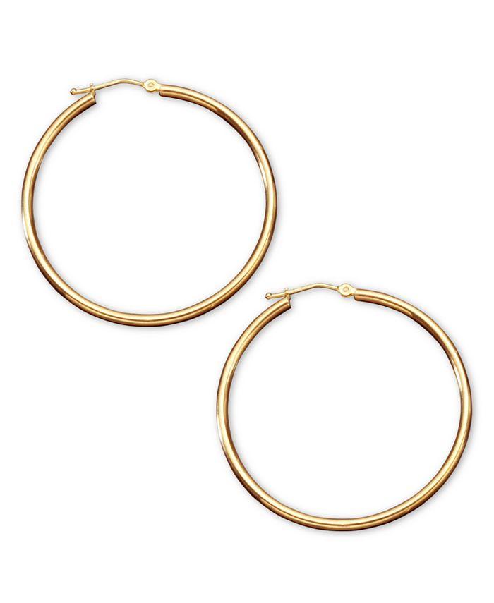 Macy's - 14k Gold Hoop Earrings