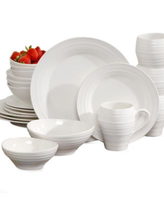 Mikasa Swirl White 20 Piece Set Service for 4