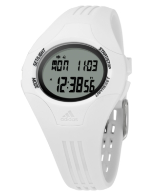 Adidas Watch, White Polyurethane Strap