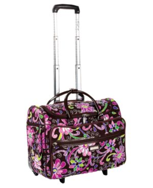 "Vera Bradley Tote, 17"" Purple Punch Wheeled"