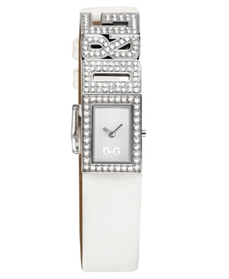 D&G Watch, Women's White Leather Strap DW0506