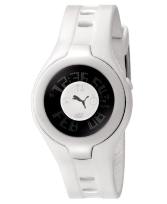 Puma Watch, Digital White Polyurethane Strap - Puma