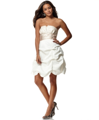 Jump Dress, Strapless Lace Pick Up