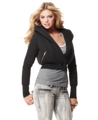 Femme for DKNY Jeans Jacket, Knit Puffer - Outerwear