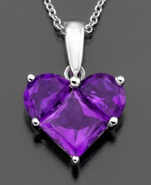 14k White Gold Pendant, Amethyst Heart (1-7/8 ct. t.w.)