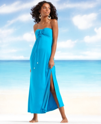 Dotti Cover Up, Bandeau Knit Maxi Dress Women's Swimsuit