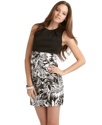 BCX Dress, Solid and Print Sheath