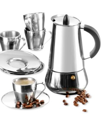 IMUSA Stainless Steel 9 Piece Espresso Set