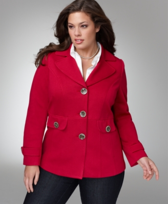 Alfani Plus Size Jacket, Long Sleeve Ponte Knit