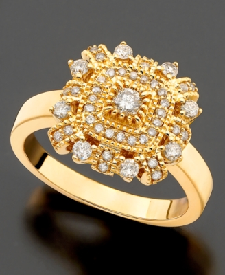 14k Gold Ring, Diamond (1/2 ct. t.w.)