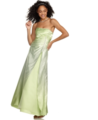Jump Prom Dress, Strapless Glitter Gown