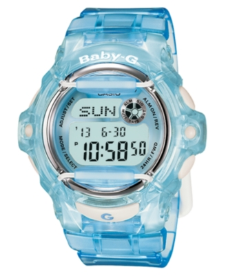 Baby-G Watch, Women's Blue Resin Strap BG169R-2