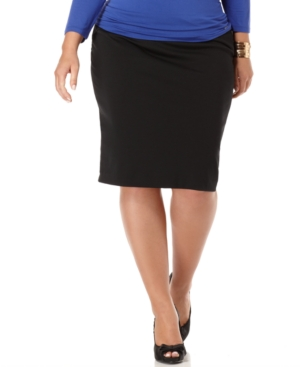 MICHAEL Michael Kors Plus Size Skirt, Ponte Knit Pencil