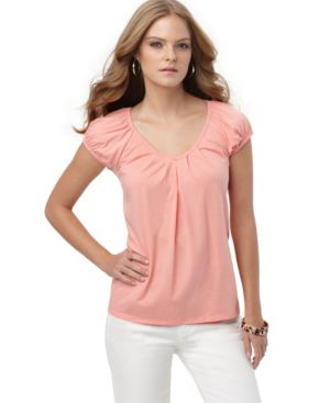 MICHAEL Michael Kors Top, Cap Sleeve Knit