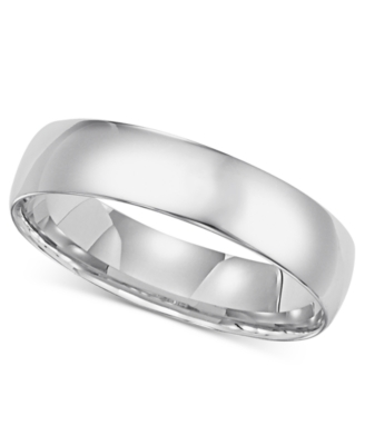 14k White Gold Ring, 5 mm Comfort Fit Band (Size 8.5-13)